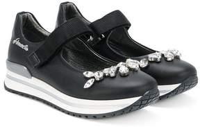 Simonetta crystal-embellished ballerina shoes
