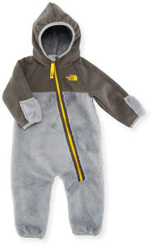 The North Face Chimborazo Fleece Hooded One-Piece, Gray, Size 3-24 Months
