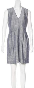 Adam Linen-Blend Mini Dress