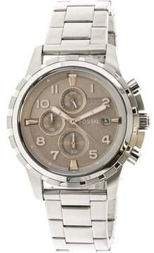Fossil Men's Dean FS5339 Silver Stainless-Steel Japanese Quartz Diving Watch