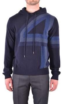 Dirk Bikkembergs Men's Blue Wool Sweatshirt.
