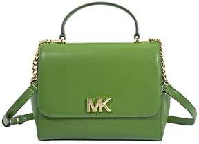 Michael Kors Mott Medium Leather Satchel- True Green - ONE COLOR - STYLE
