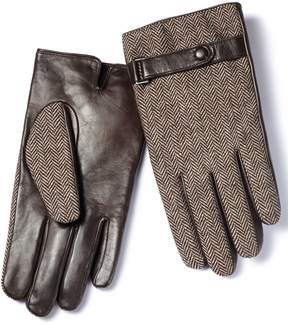 Charles Tyrwhitt Brown Tweed Gloves Size Large
