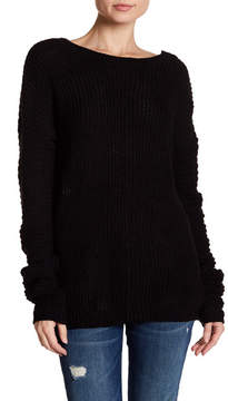 Angie V-Back Pullover Knit Sweater