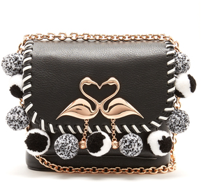 SOPHIA WEBSTER Claudie embellished small leather cross-body bag