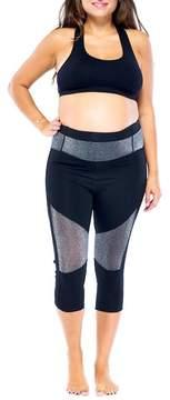 Electric Yoga Glitz Metallic Capri Leggings (Maternity)