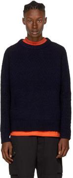 Acne Studios Navy Nyle Zig Zag Sweater