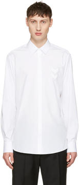 Neil Barrett White Front Chevron Patch Shirt