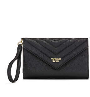 Victoria's Secret Victorias Secret Pebbled V-Quilt Tech Clutch