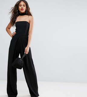 Asos Tall TALL Bandeau Jumpsuit With Neck Strap Detail