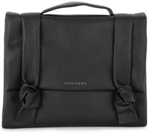 Orciani Bella Black Tumbled Leather Satchel