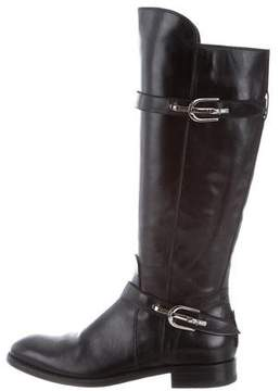 Cesare Paciotti Leather Knee-High Boots