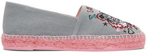 Kenzo Grey Limited Edition Tiger x I Love You Espadrilles