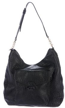 Tory Burch Grained Leather Hobo - BLACK - STYLE