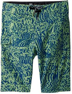 Volcom Logo Plasm Mod Boardshorts Boy's Swimwear