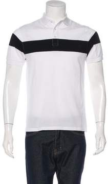 Frame Striped Piqué Polo Shirt