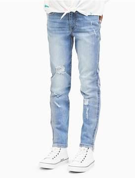 Calvin Klein Jeans Girls Boyfriend Fit Foil Print Jeans