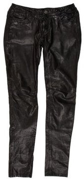 AllSaints Low-Rise Leather Pants