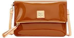 Dooney & Bourke Patent Foldover Zip Crossbody Shoulder Bag