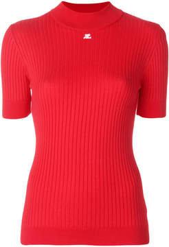 Courreges ribbed knitted top