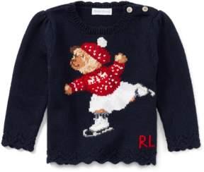 Ralph Lauren | Skate Polo Bear Cotton Sweater | 18-24 months | Hunter navy