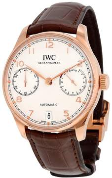IWC Portugieser White Dial 18 Carat Red Gold Automatic Men's Watch