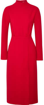 Emilia Wickstead Milan Open-back Wool-crepe Midi Dress - Crimson