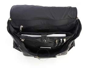 Royce Leather Royce Black Colombian Leather Backpack with 15 Laptop Sleeve