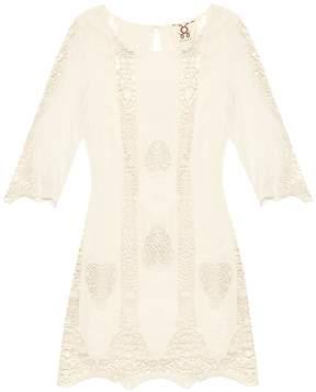 Figue Anina lace-insert cotton kaftan