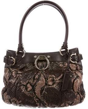 Salvatore Ferragamo Snakeskin Handle Bag