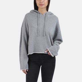 RtA Marvin-Cropped Hoodie - Iron