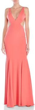 Jay Godfrey Douglas Cutout V-Neck Gown