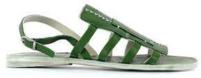 Henry Beguelin Women's Green Leather Sandals.