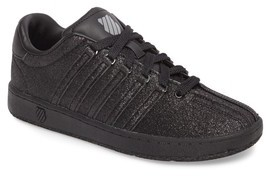 K-Swiss Girl's Classic Vn Sparkle Low Top Sneaker