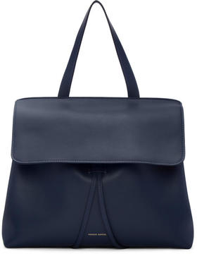 Mansur Gavriel Navy Leather Lady Bag