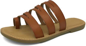 Bamboo Tan Strappy Christy Sandal - Women