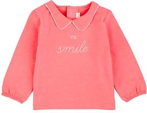 Billieblush INFANTS' SMILE COTTON-BLEND T-SHIRT