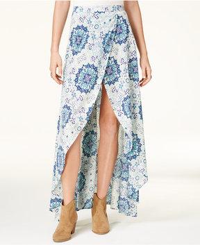 American Rag Juniors' Printed High-Low Wrap Skirt, Created for Macy's