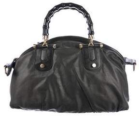 Gucci Leather Pop Bamboo Bag - BLACK - STYLE
