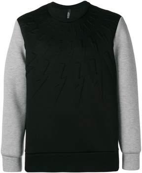 Neil Barrett contrast sleeve sweater