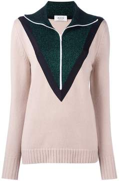 Aviu contrast detail zipped pullover