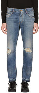 Dolce & Gabbana Blue Distressed Jeans