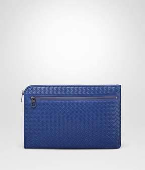 Bottega Veneta Cobalt Blue Intrecciato Document Case