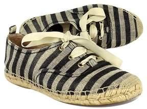 Kate Spade Black & Tan Striped Espadrille Sneakers