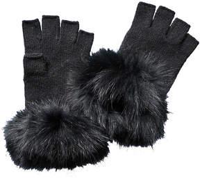 Sofia Cashmere sofiacashmere Sofiacashmere Fingerless Cashmere Gloves