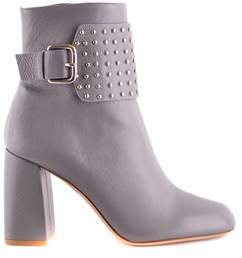 RED Valentino Women's Grey Leather Ankle Boots.