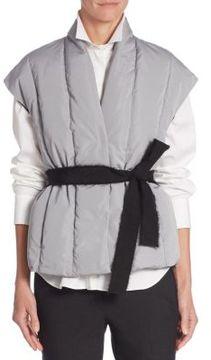 Brunello Cucinelli Cap Sleeve Belted Vest