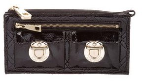 Marc Jacobs Patent Leather Zip Wallet - BLACK - STYLE