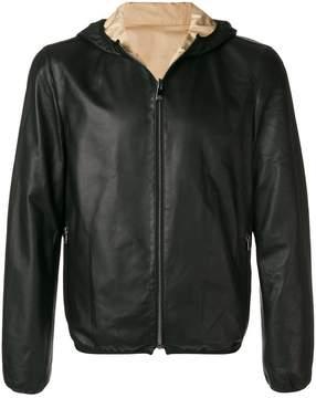 Corneliani hooded bomber jacket
