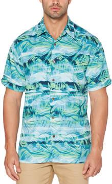 Cubavera Big & Tall Watercolor Palms Shirt